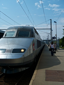 TGV at Gare de Lorient -- seeing Adrian off