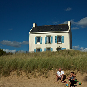 Beach at Kerou, Le Pouldu, Brittany.
