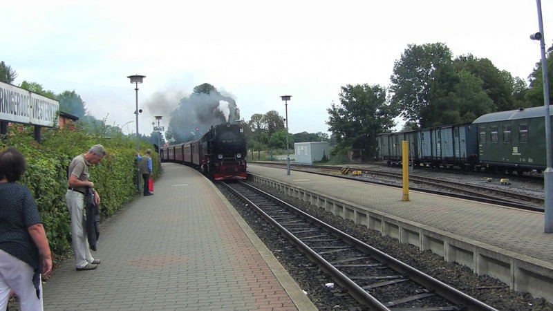 Come ride this steam train from Wernigerode (in the foothills of the Harz Mountains to Brocken (the summit)