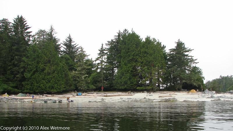 The Clarke Island camping beach