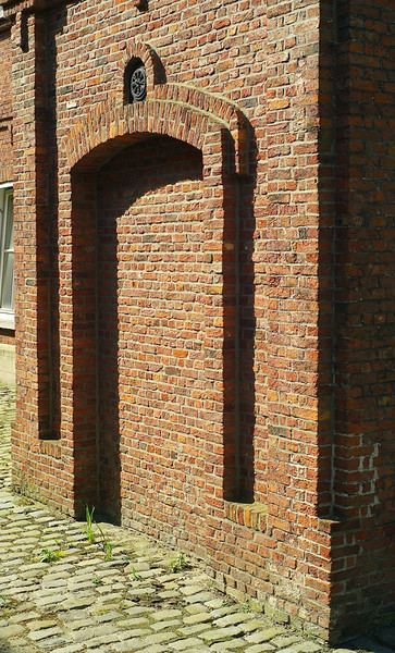 Nice brickwork, but how do you get through the doorway?