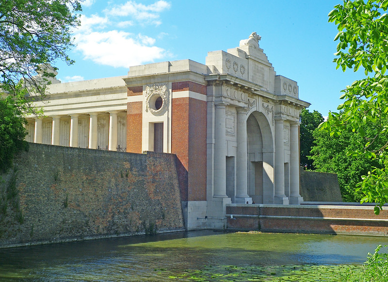 The Menin Gate at the entrance to Ypres may not be wonderful architecture, but it does contain the names of those who have no known grave. The Last Post is sounded here every evening.