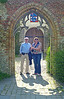 Dieter and Carmel in a typical archway. Great light.