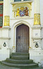 Ornate doorway in the Burg square.