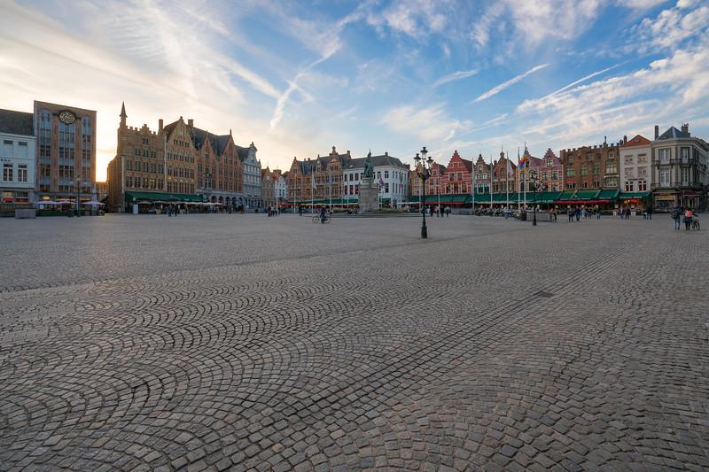 Market Square in Bruges Belgium