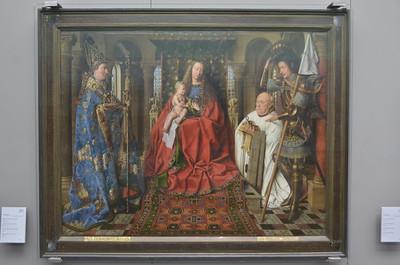 Jan van Eyck 1436: Madonna with Canon Joris van der Paele Groeningemuseum, Brugge 01/06/2013   --- Foto: Jonny Isaksen