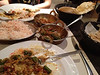 Indian Dinner.  Chana and something new - with okra!  Very good.