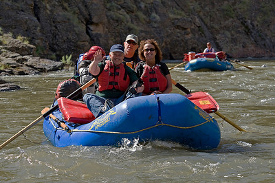 Chuck Webb, Jeff and Coleen LeFever Oar boats on the Bruneau River, Idaho