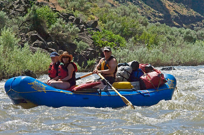 Chuck Webb with Jeff and Coleen Lefever Bruneau River, Idaho