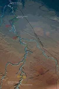 Map, Bruneau River, Southwestern Idaho