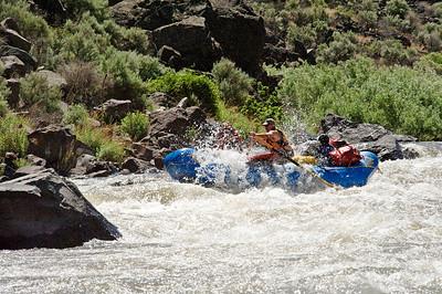 Chuck Webb powering through rapid on the Bruneau
