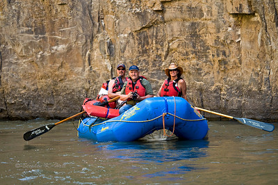 Steve Lentz with Jeff and Coleen Lefever on the Bruneau River, Idaho Far and Away Adventures