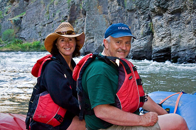 Jeff and Coleen LeFever on the Bruneau River, Idaho Far and Away Adventures