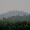 Smoke haze from uncontrolled forest fires in Kalimantan blankets the Bruneian jungle, near Bandar Seri Begawan.