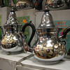 Maroccan teapots.. for sale on 'Rue de Brabant'..