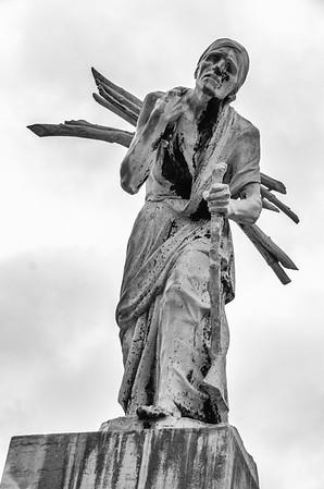 Bronze Sculpture: Hardship