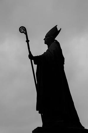 Sculpture of a Bishop