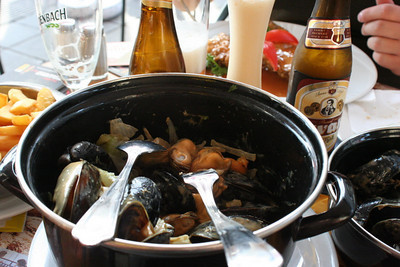 Dinner in Brussels - Moulles Frites (Mussels with Fries)
