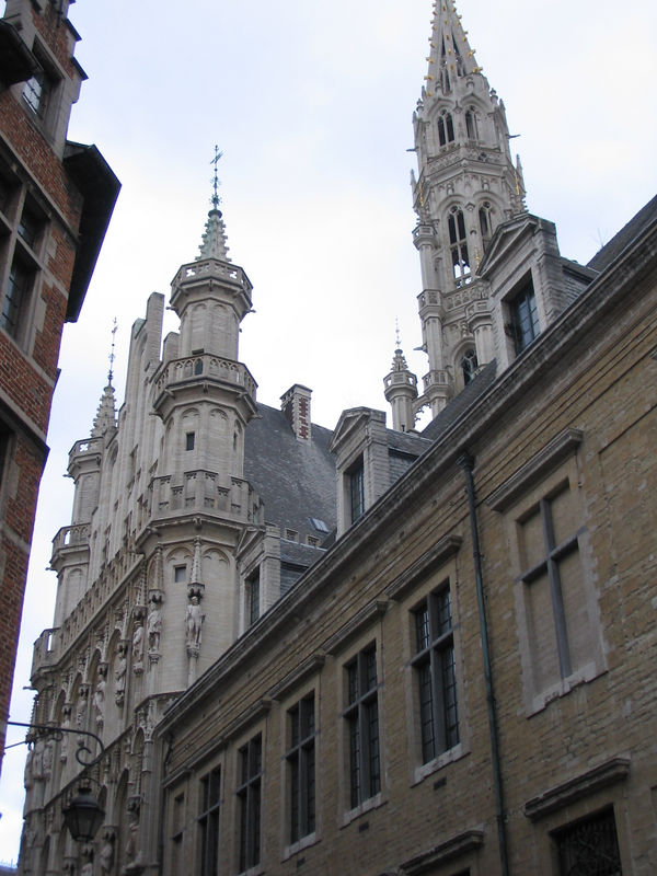 Walking from my (so, so sketchy and frightening) area of Bruxelles to the (very, very small) touristy section, the Grande Place. Here, we're just approaching it...