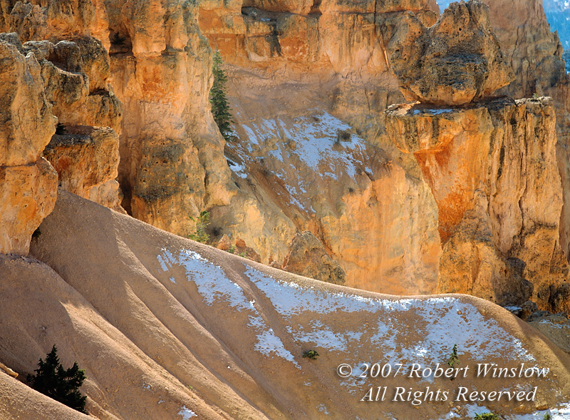 Dusting of Snow, Bryce Canyon National Park, Utah, USA, North America