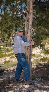 Ted, the true tree-hugger!