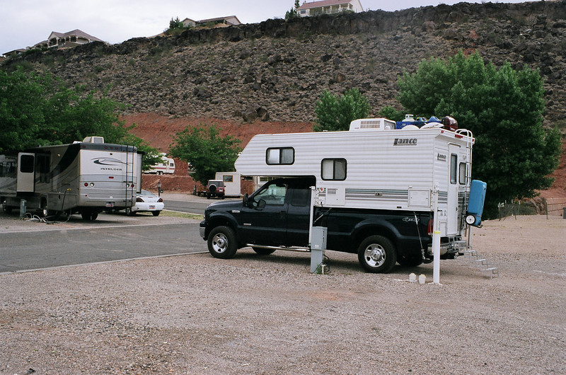 Our site at Settlers RV Park in St. George, Uath.