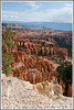 A view of the hoodoo formations of Bryce National Park in Utah