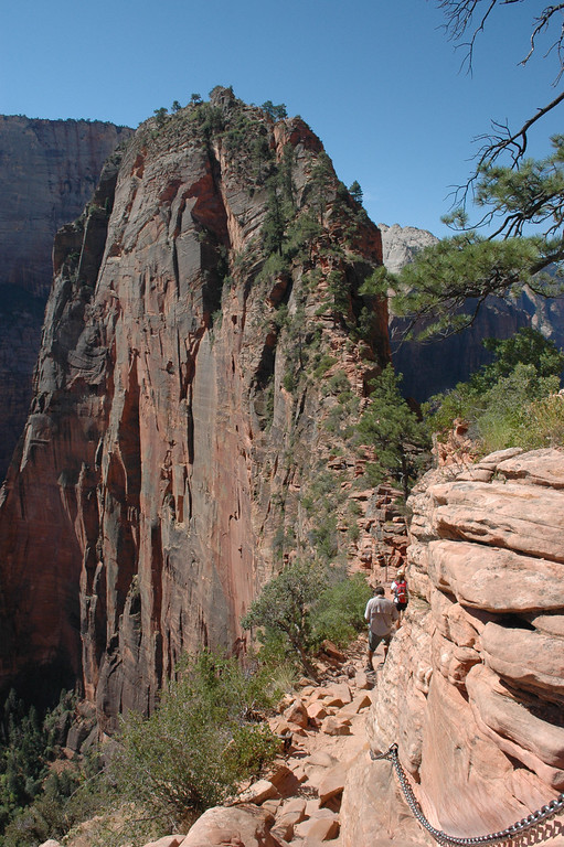 Zion National Park <br /> Angels Landing Trail<br /> Narrow Trails