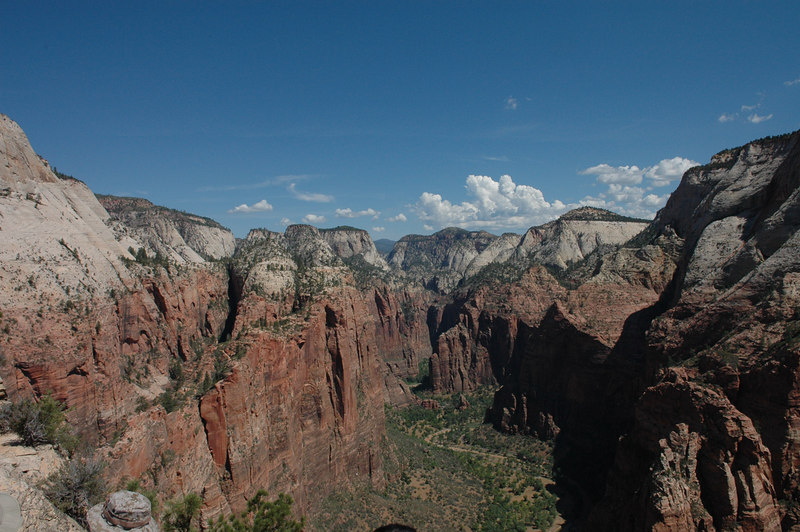 Zion National Park <br /> Angels Landing Trail<br /> At the top