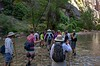 starting hike in The Narrows of the Virgin River