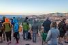 photo nerds waiting for sunrise over canyon