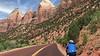 riding into Zion Canyon