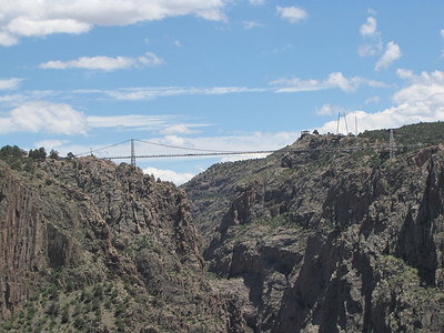 view of Royal Gorge from train ride