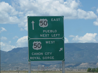 Sign to Canon City - we went Hwy 25 to 115 to 50