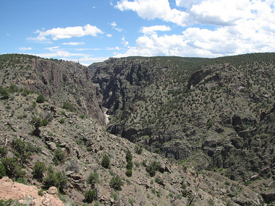 view of Arkansas River and Royal Gorge from train ride