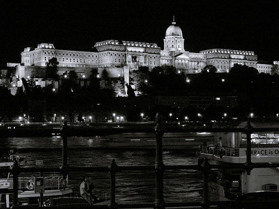 Danube and the Royal Palace at night
