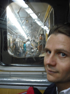 On the subway...