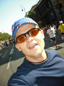 I carried the camera.  Here I am at about mile 2.
