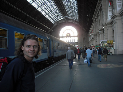 Budapest train station.
