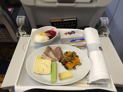 Lufthansa food is much better in business class!