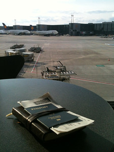 Sitting in Frankfurt, waiting for the flight home.