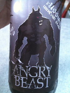 Angry Beast -- Hopfanatic Brewery's 12% ABV Imperial Russian Stout.  I couldn't find the stuff when I was here in January, but this time it was available!
