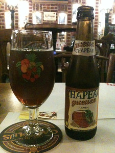 The Chapeau gueuze was a bit fruiter and less sour than I prefer in this type of beer, but was definitely worth a try.
