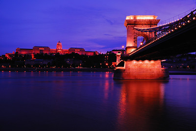Chain Bridge with Buda Castle in the Background