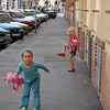Budapest - My Niece and her Cousin wasted no time in turning a mischievous eye towards the camera