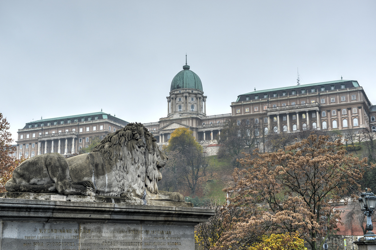 Buda Castle from the Chain Bridge, Budapest
