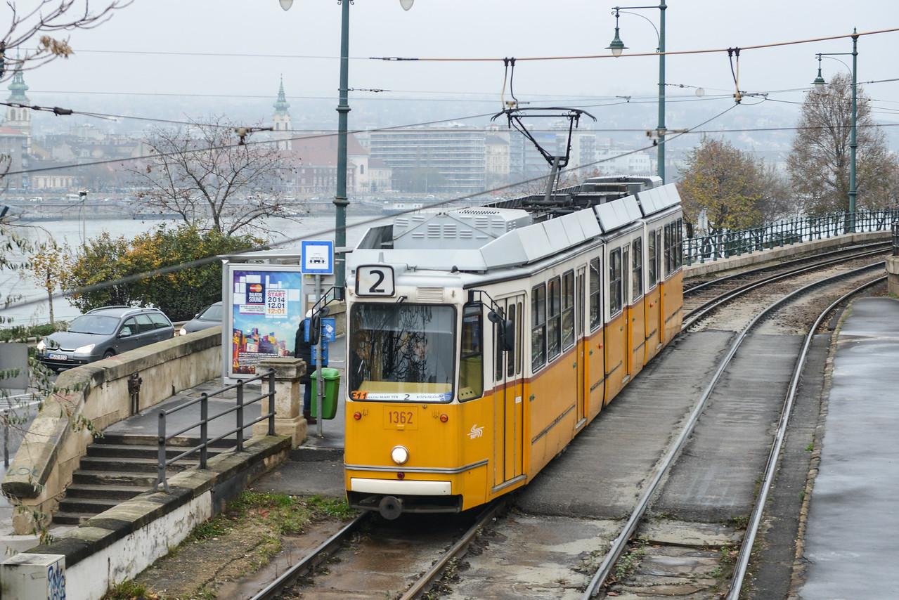 Tram along Budapest, Hungary