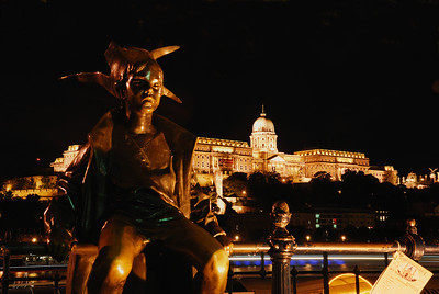 The Little Princess by Laszlo Marton with Buda Castle in the background