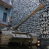 Budapest - Soviet Tank and Wall of Victims inside House of Terror Museum