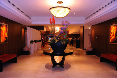 Lobby of the Budapest Marriott Hotel